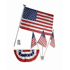 Patriotic Home Decorating Flag Set