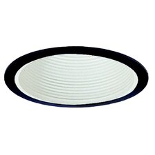 Baffle with Black Trim Ring in White
