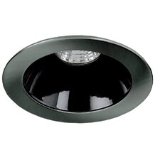 "4"" Specular Cone with Brushed Aluminium Trim Ring in Black"