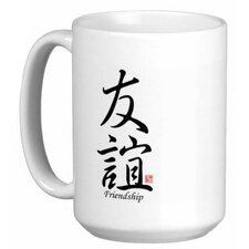 Chinese Stylish Calligraphy Friendship 15 oz. Coffee / Tea Mug