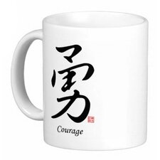 Chinese Stylish Calligraphy Courage 11 oz. Coffee / Tea Mug