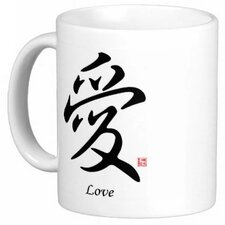 Chinese Stylish Calligraphy Love 11 oz. Coffee / Tea Mug