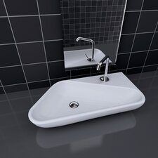 Groove Vessel Bathroom Sink