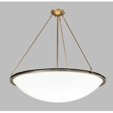 "Regent 24"" Bowl Pendant with Triple Rods and Single Stem"