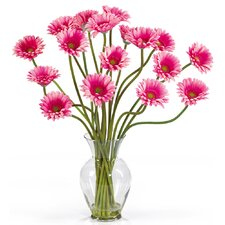 Liquid Illusion Silk Gerber Daisy Arrangement in Pink