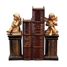 Thinking Cherub Bookends (Set of 2)