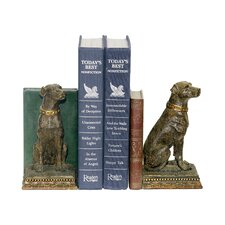 Chocolate Lab Bookends (Set of 2)