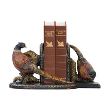 Two Piece Autumn Pheasant Bookend Set