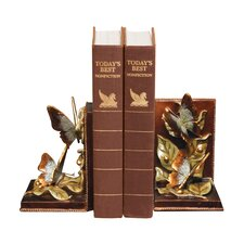 Butterflies Foraging Bookends (Set of 2)