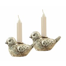 Mini Bird Resin Candlesticks (Set of 2)