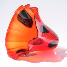Hand Blown Vase in Burnt Orange