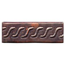 "Roman Band 6"" x 2"" Copper Border Tile in Dark Copper"