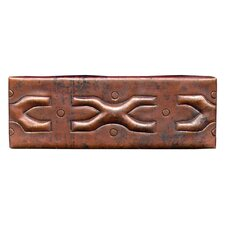"Medieval Band 6"" x 2"" Copper Border Tile in Dark Copper"