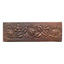 "Grape Vine 6"" x 2"" Copper Border Tile in Dark Copper"