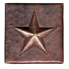 "Star 4"" x 4"" Copper Tile in Dark Copper"