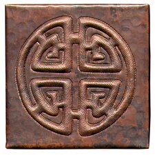 "Celtic Cross 4"" x 4"" Copper Tile in Dark Copper"