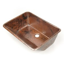 "Copper Bathroom Sinks 20"" x 15"" Cayman Drop-In Kitchen Sink"