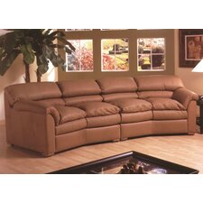 Canyon Leather Conversation Sofa