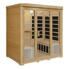 4-Person Infrared Sauna with 8 Carbon Heaters