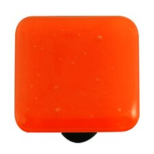Solids Cabinet Knob in Opal Orange