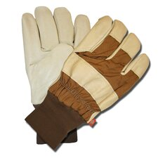 Grain Pigskin Leather Palm Gloves