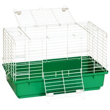 "24.5"" Rabbit Cage with Plastic Tray"