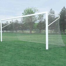 Set of In-Ground Steel Soccer Goals