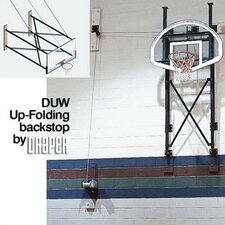 DUW Fold-Up Wall Mounted Basketball Backstop