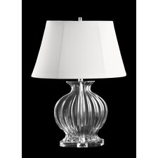 Glass Oval Table Lamp