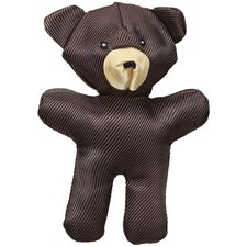 Crackle Heads Canvas Bear Dog Toy
