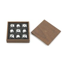 Bonbon XOXO Game in Walnut and Chrome