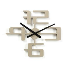 "Big Time 18"" Geometric Molded Clock in Nickel"