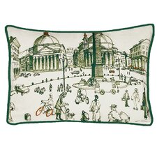 Rome Piazza Decorative Pillow