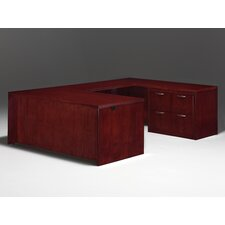 Summit Reed Right U-Shape Executive Desk with Lateral File (Flat Pack)