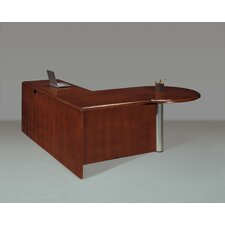 Summit Cope Right Peninsula L-Shape Executive Desk (Flat Pack)