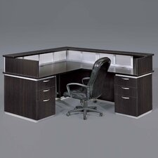 Pimlico Right Reception Desk (Flat Pack)