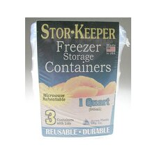 Stor-Keeper 1 Qt. Freezer Storage Containers (Pack of 3)