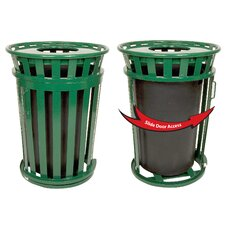 Oakley Collection 36 Gallon Trash Receptacle with Slide Gate & Flat Top