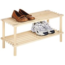 2-Tier Wood Shelf