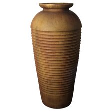 Floor Ribbed Round Urn Planter