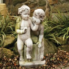 Children Loving Twins Child Garden Statue