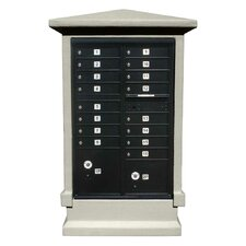 Stucco Short Pedestal CBU Column Mailbox Center Column