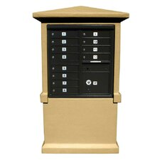 Stucco Tall Pedestal CBU Column Mailbox Center Column