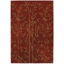 Raymond Waites Bamboo Garden Royal Red Rug