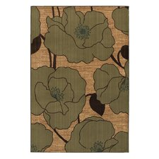 Kaleidoscope Taupe Abstract Lilies Rug
