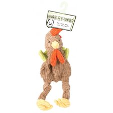 Large Rooster Knottie Dog Toy in Multi
