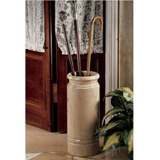 Solid Ivory Marble Cane and Umbrella Vessel
