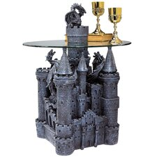 Lord Langton's Castle Glass Topped Sculptural End Table