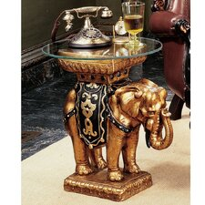 Maharajah Elephant Sculptural End Table