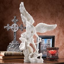 Bonded Marble St. Michael the Archangel Angel Statue